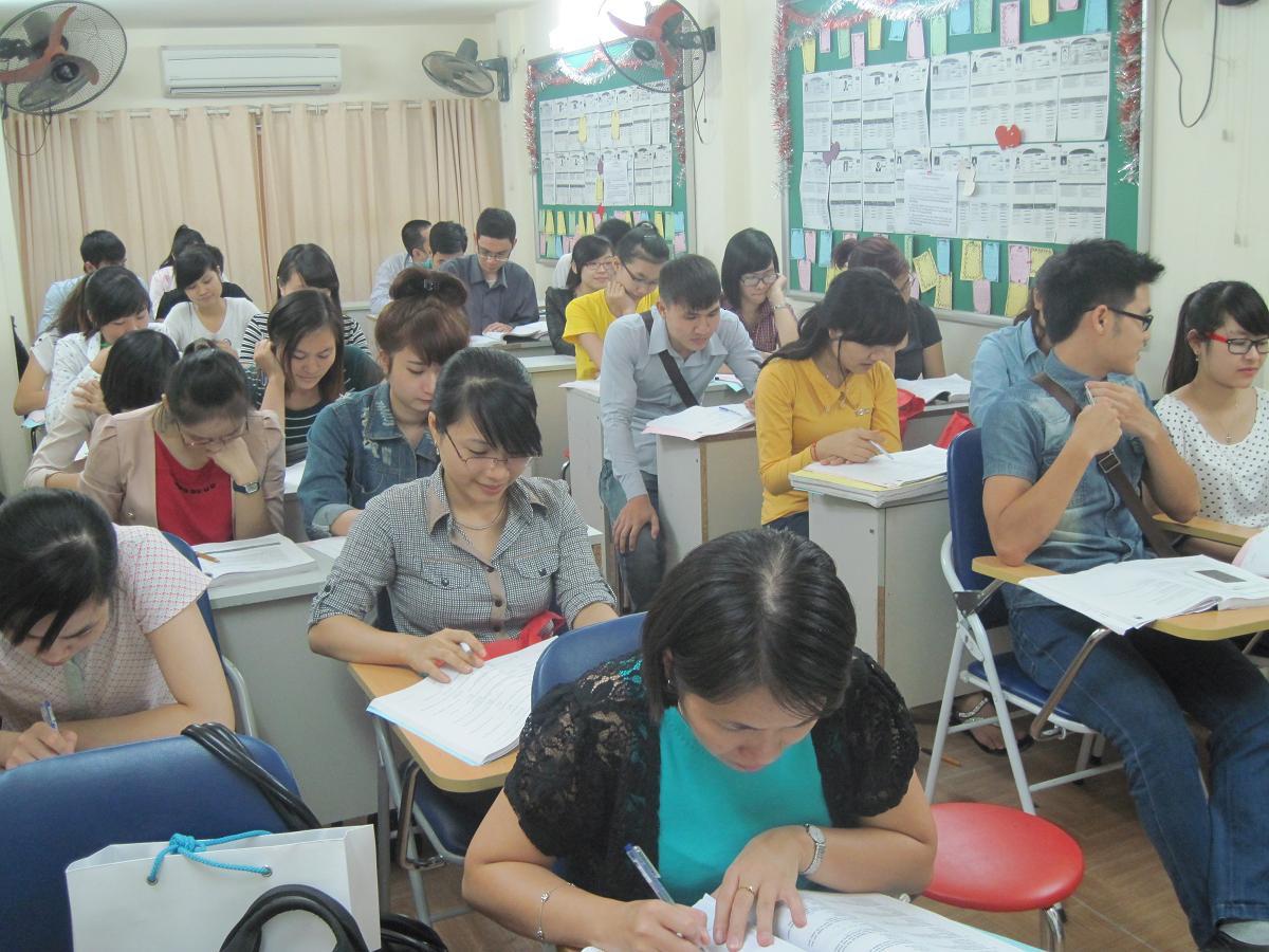 Những học trò chăm chỉ của lớp TC2508