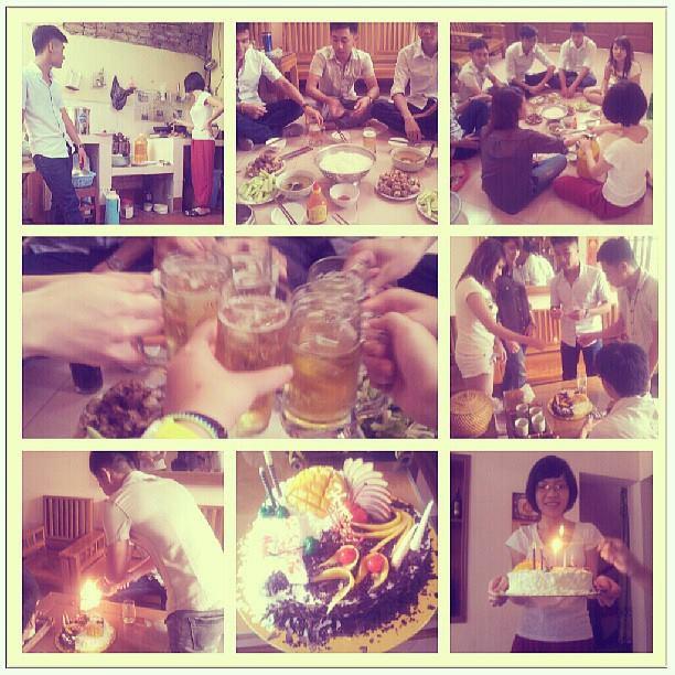 Party tại nhà riêng cô Hà nhé ^^