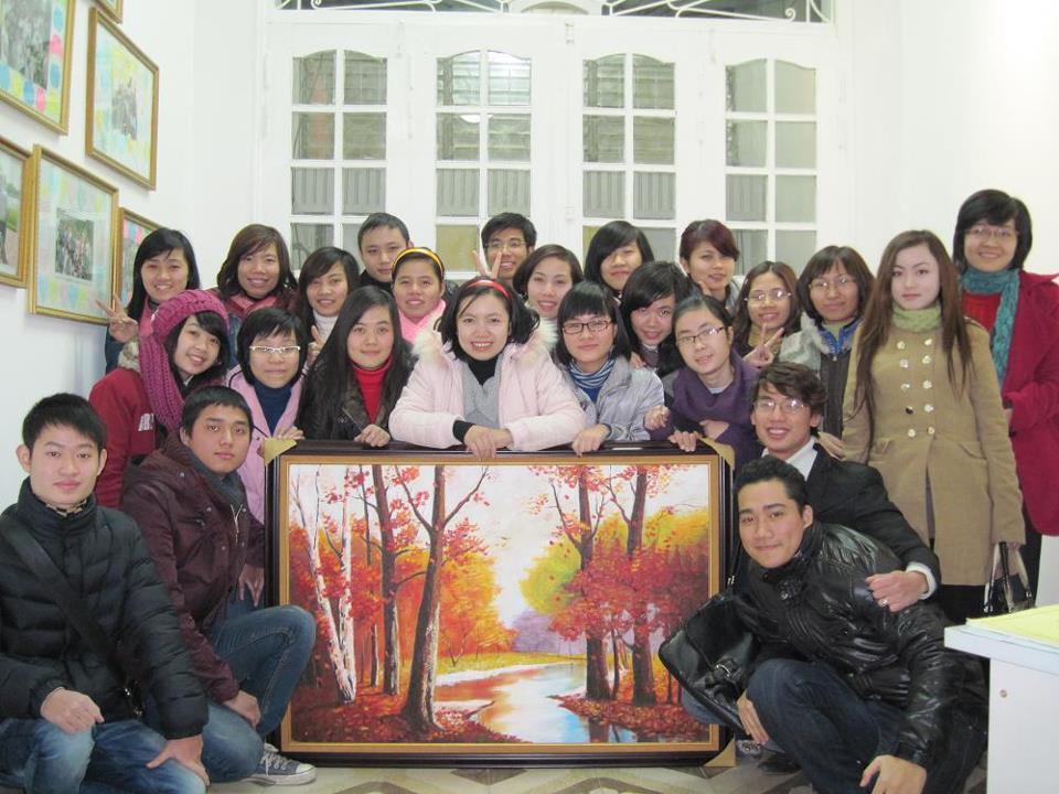 Bức tranh do Học viên vẽ tặng Ms. Phương Karly